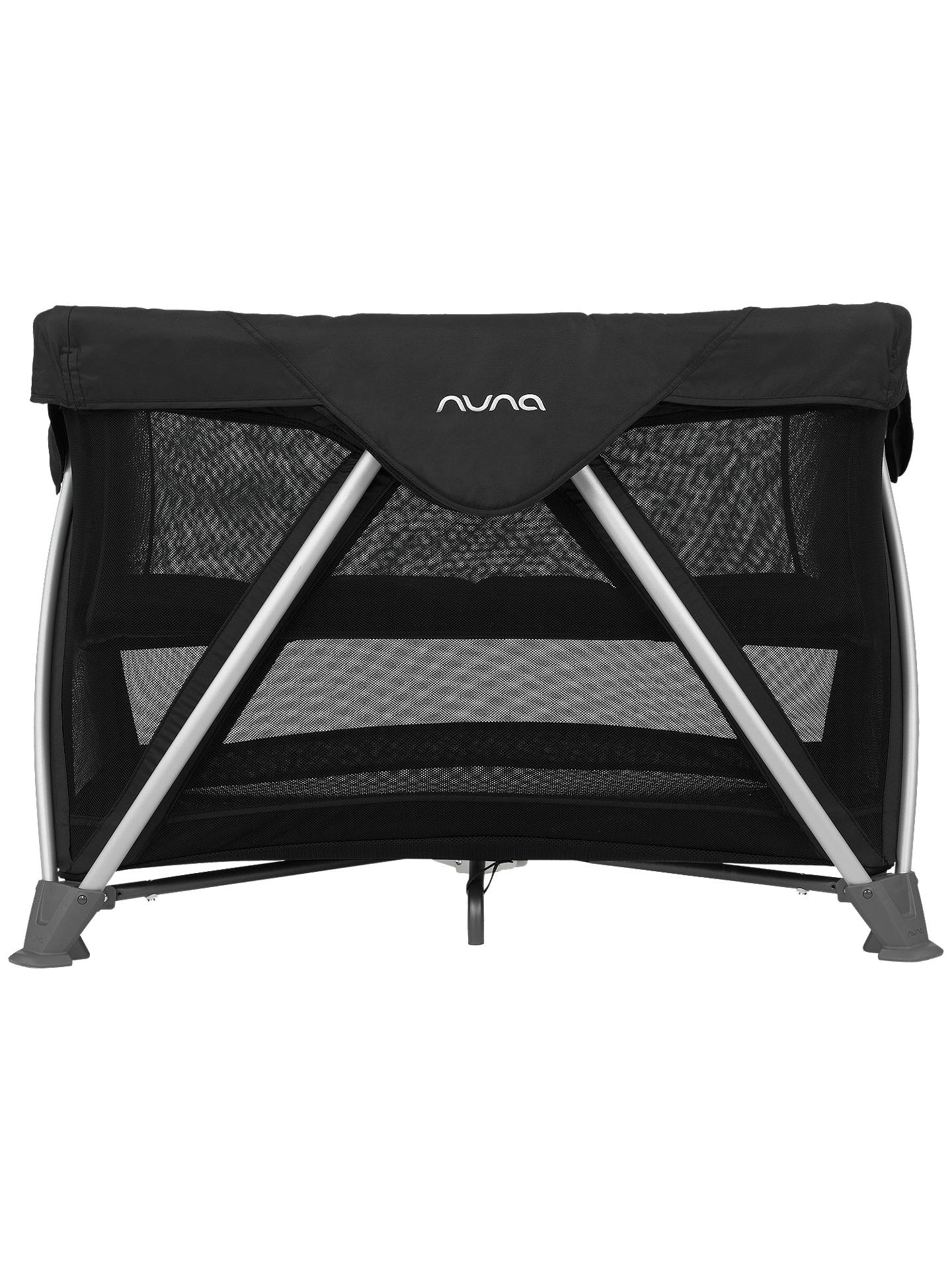 Nuna Sena Aire Travel Cot Caviar At John Lewis Amp Partners