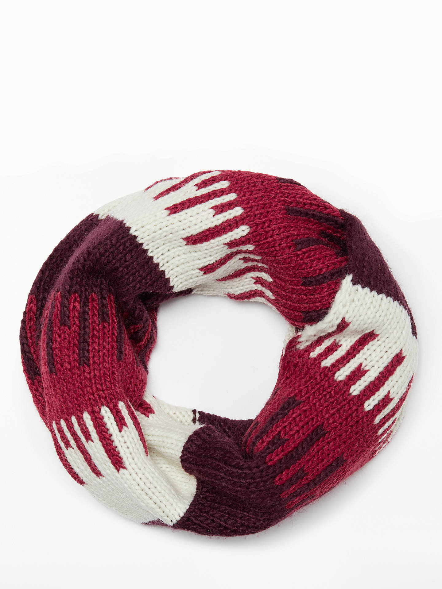 BuyJohn Lewis & Partners Colour Block Jacquard Snood, Red Mix Online at johnlewis.com