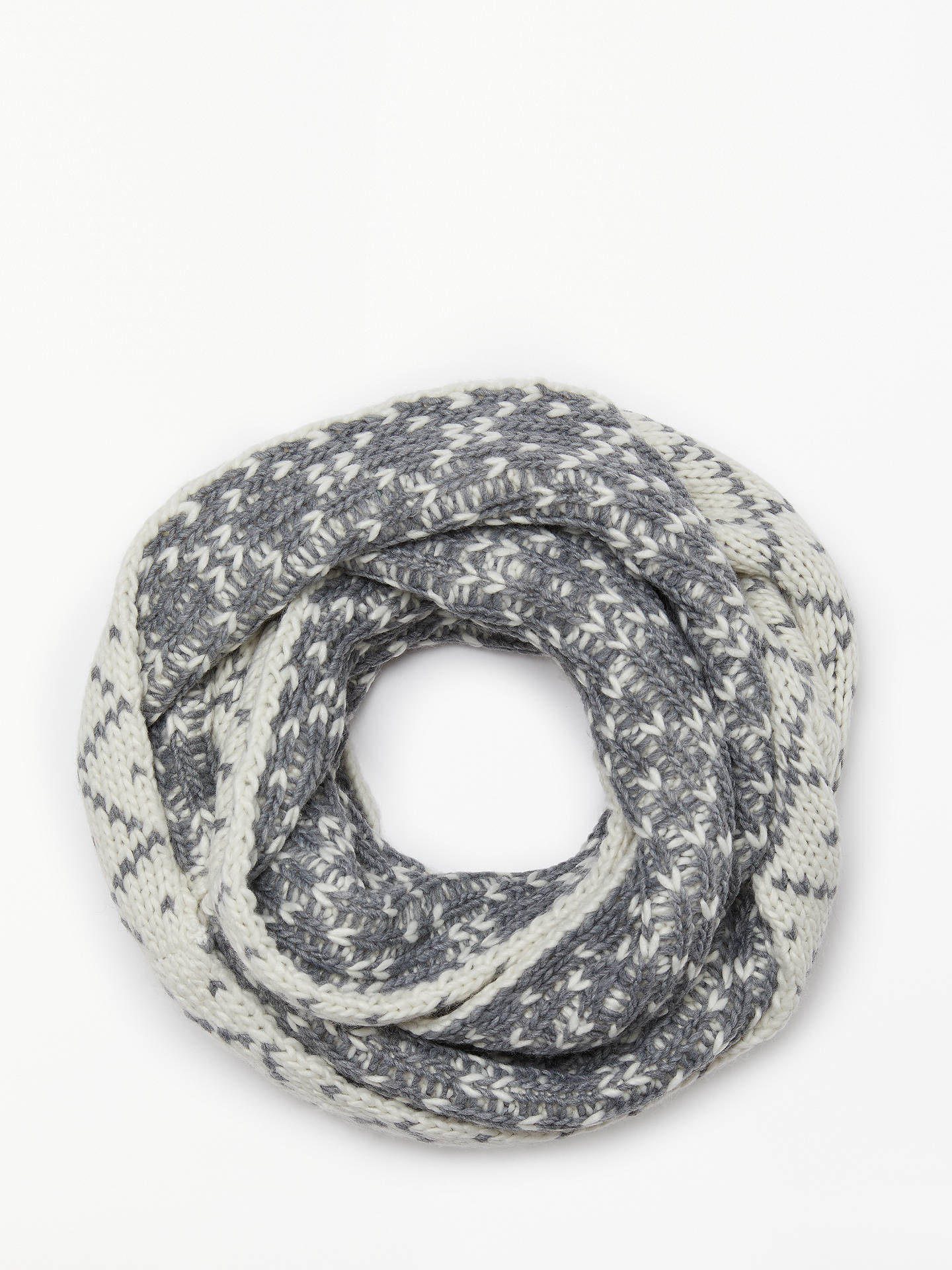 BuyJohn Lewis & Partners Diamond Chunky Snood, Grey Mix Online at johnlewis.com