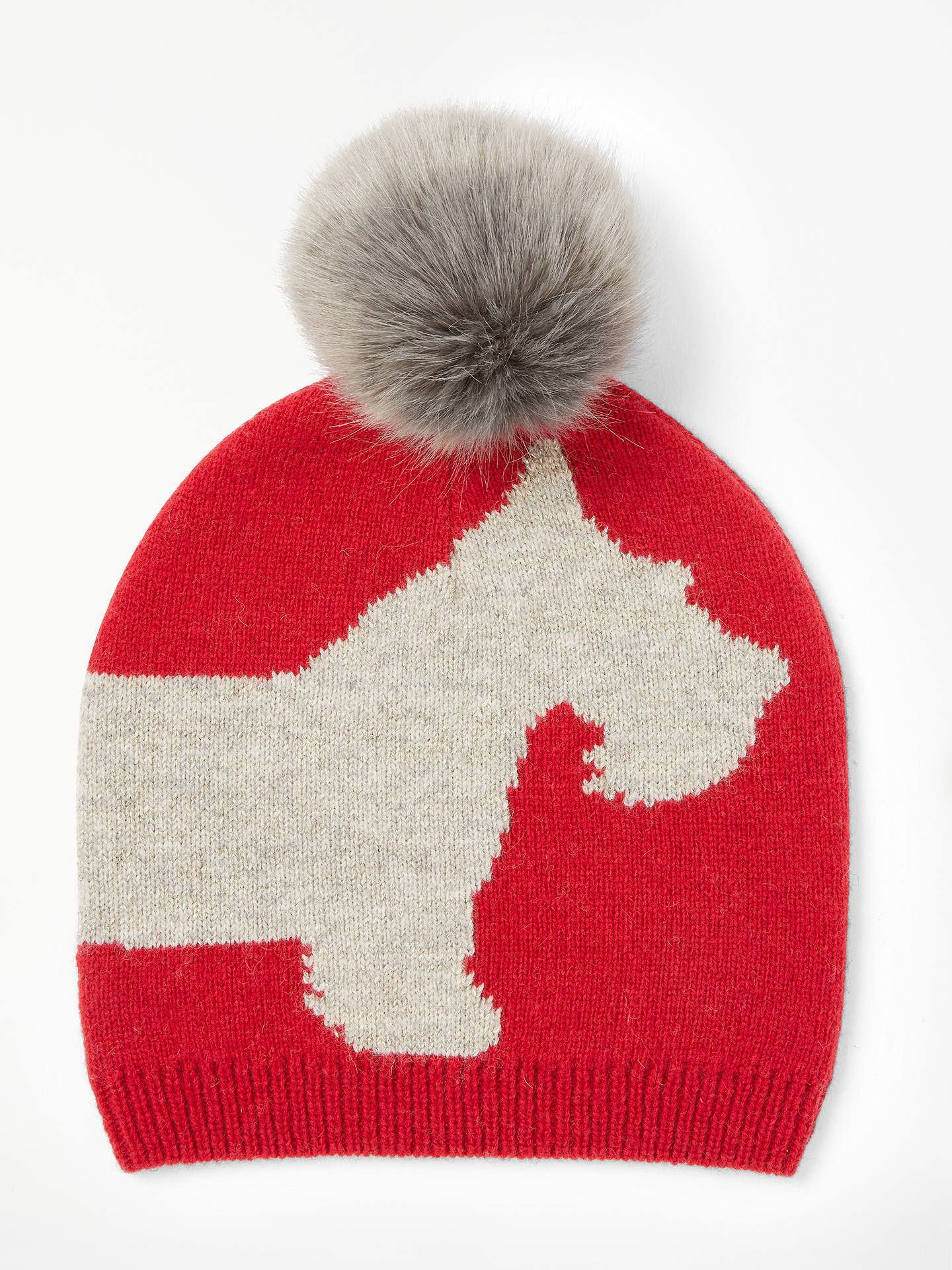 BuyCollection WEEKEND by John Lewis Scotty Dog Print Faux Fur Pom Beanie  Hat 4ee31e7f25e