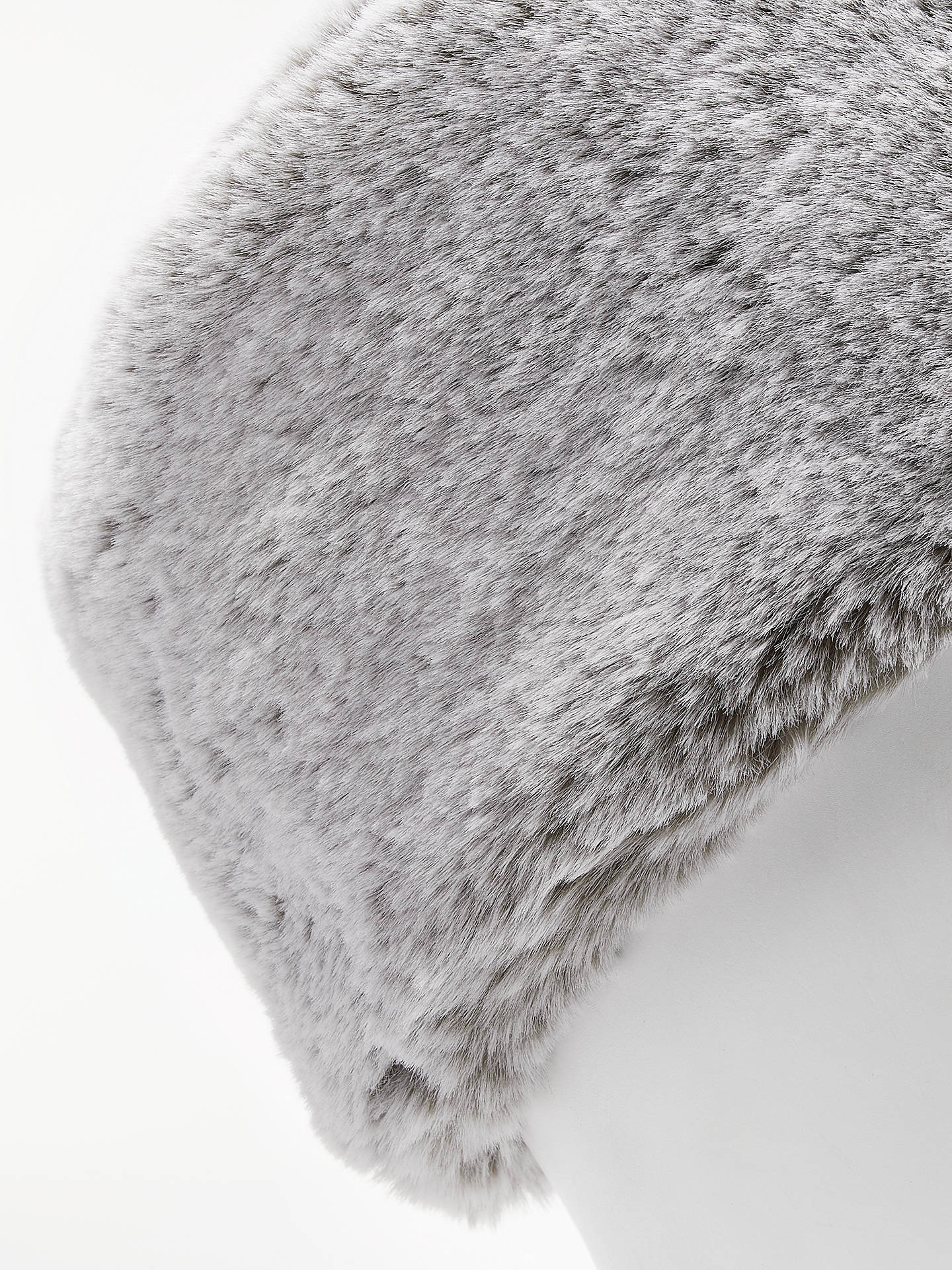 Buy John Lewis & Partners Faux Fur Cossack Hat, Silver Grey Online at johnlewis.com