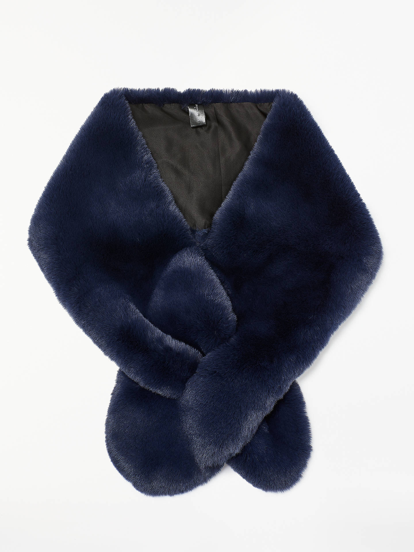 BuyJohn Lewis & Partners Faux Fur Wrap, Navy Online at johnlewis.com