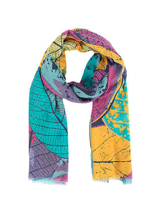 Buy Powder Leaf Outlines Scarf, Damson/Multi Online at johnlewis.com