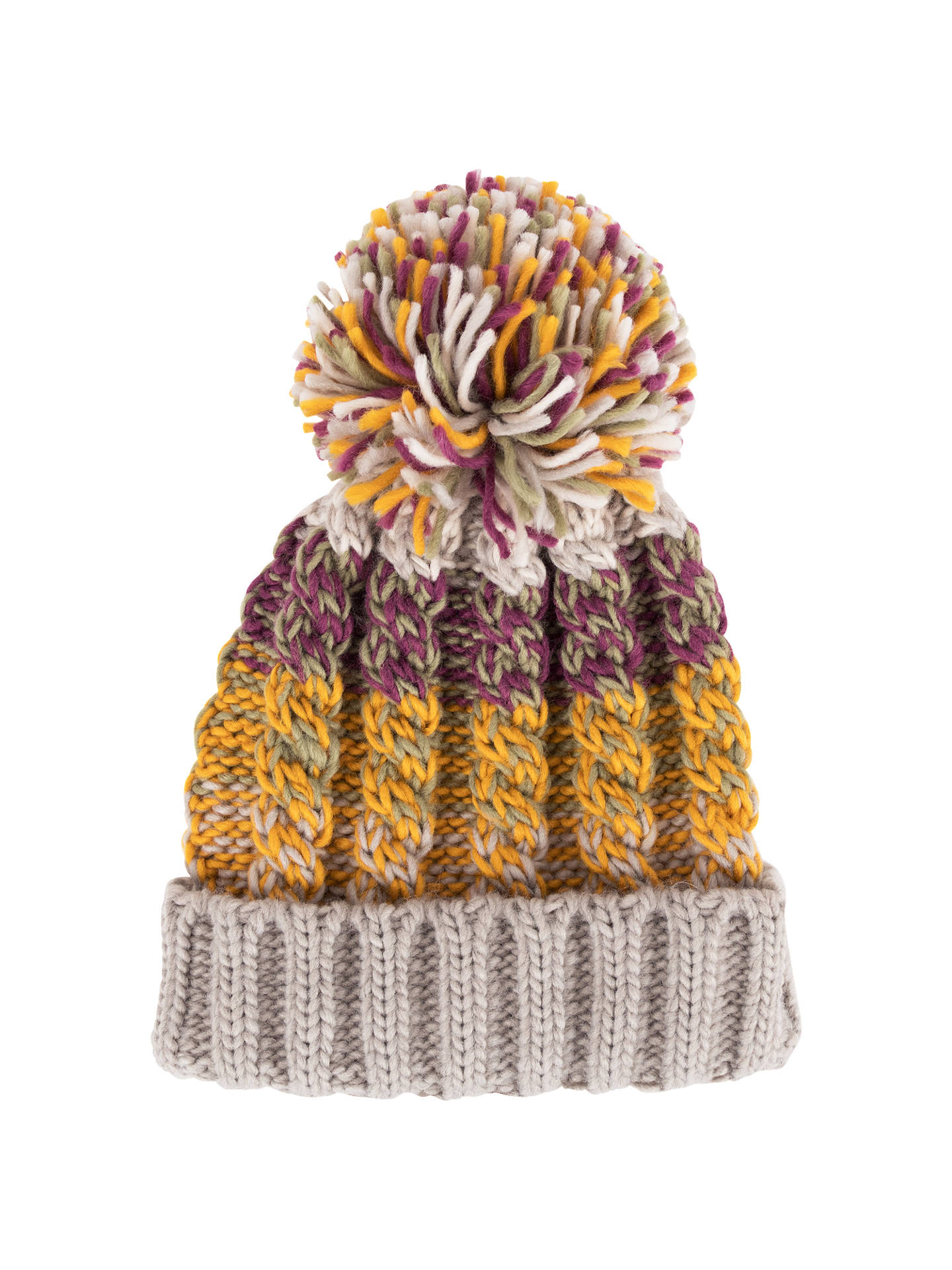 Buy Powder Astrid Pom Pom Beanie Hat, Damson Mix Online at johnlewis.com