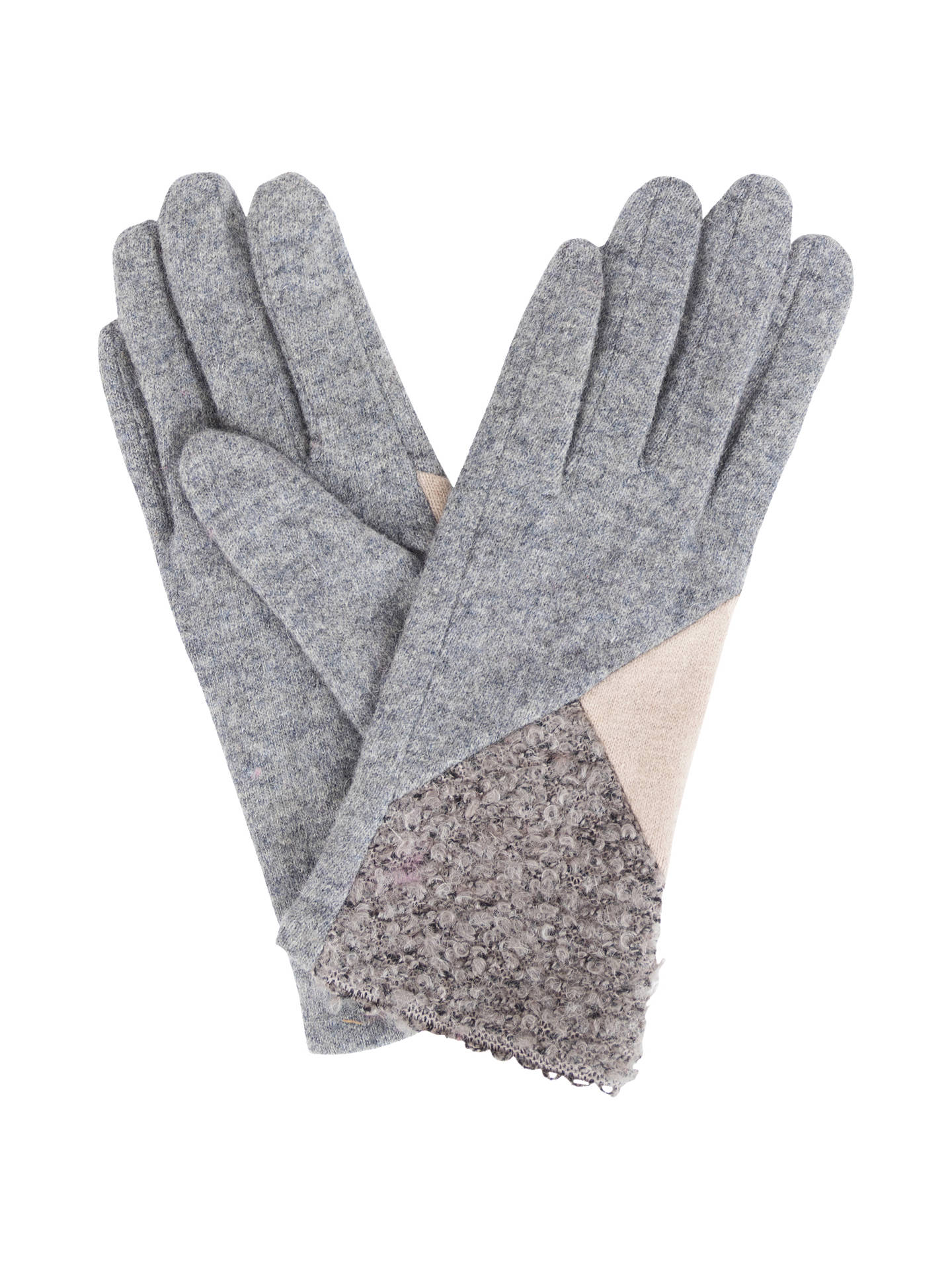 BuyPowder Zandra Wool Rich Gloves, Slate Mix Online at johnlewis.com