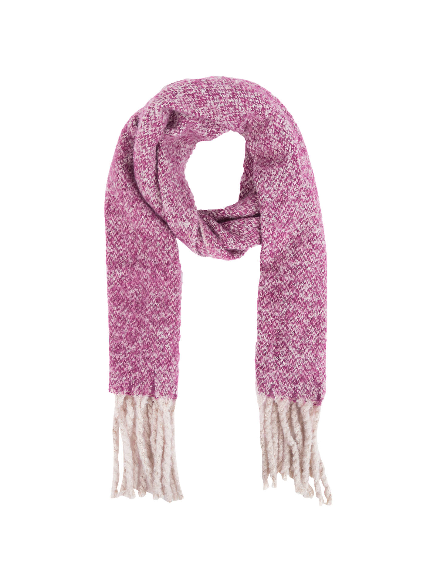 Buy Powder Morag Long Fringe Scarf, Damson Online at johnlewis.com