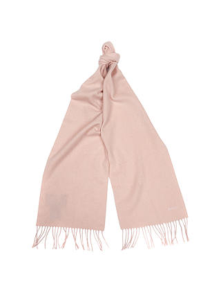Buy Barbour Plain Cashmere Scarf, Pink Online at johnlewis.com