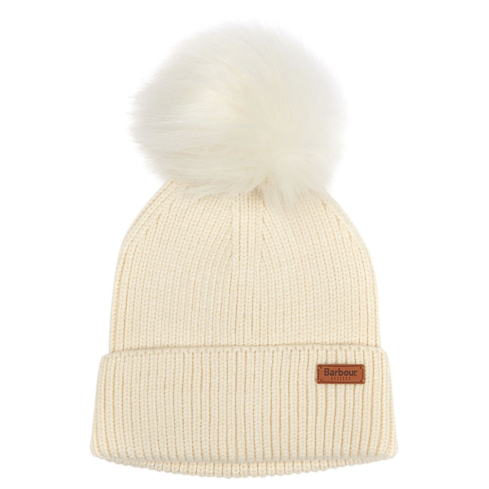 41336f07b Barbour Dover Pom Beanie Hat, Cream