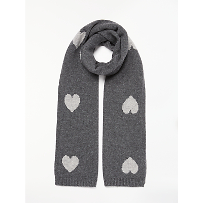 Collection WEEKEND by John Lewis Heart Print Cashmere Scarf