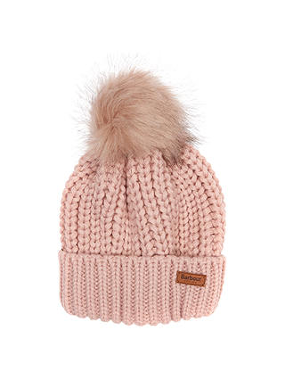 Buy Barbour Saltburn Beanie, Pink Online at johnlewis.com
