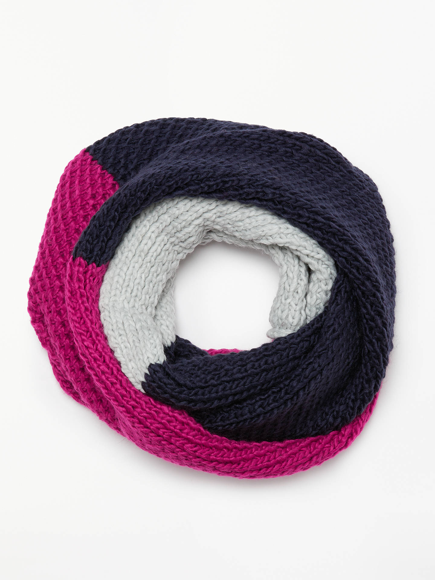 8584329ac1 Buy John Lewis & Partners Chunky Lovely Colour Block Snood, Navy Mix Online  at johnlewis ...
