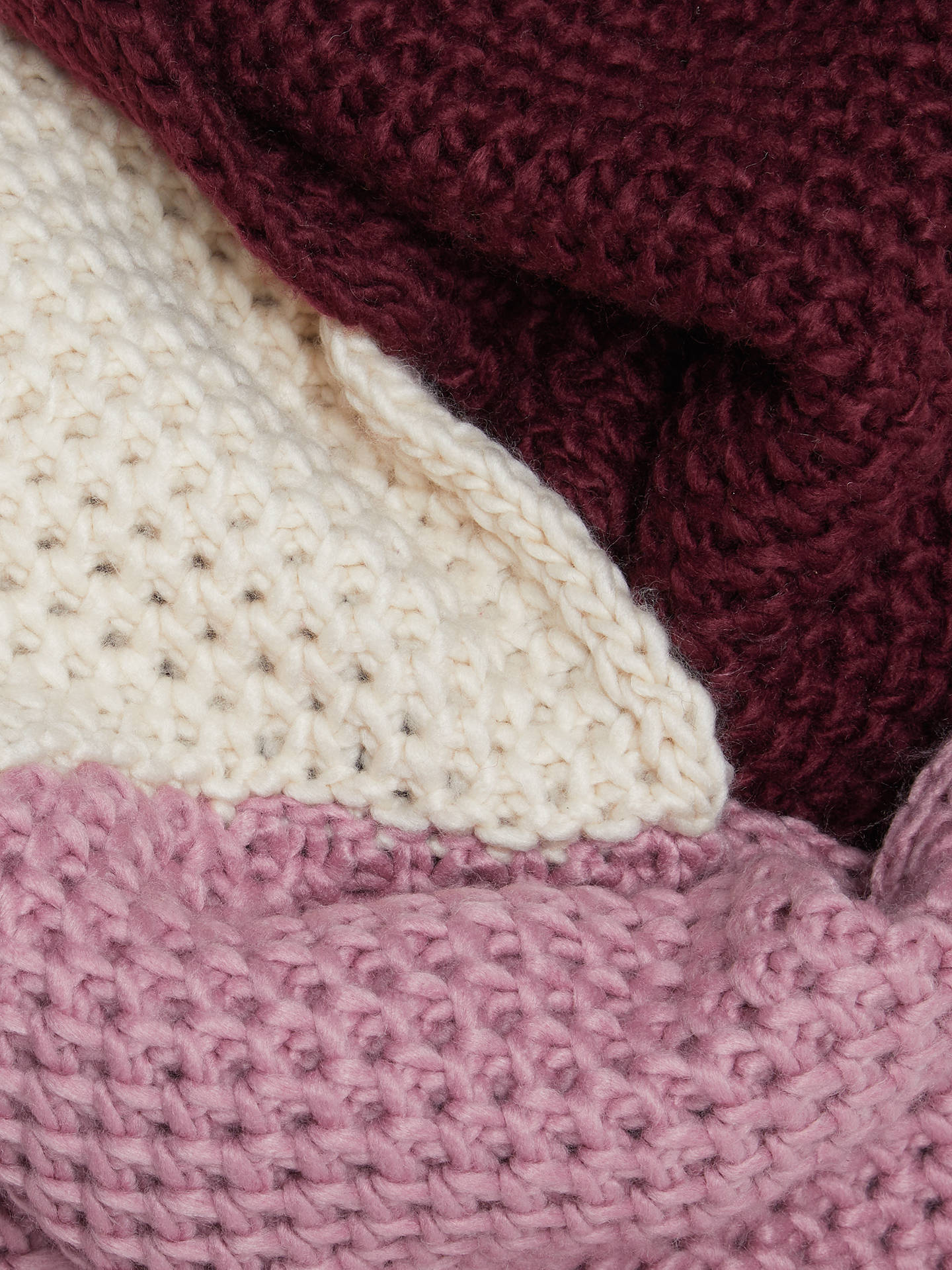 BuyJohn Lewis & Partners Chunky Lovely Colour Block Snood, Pink Mix Online at johnlewis.com