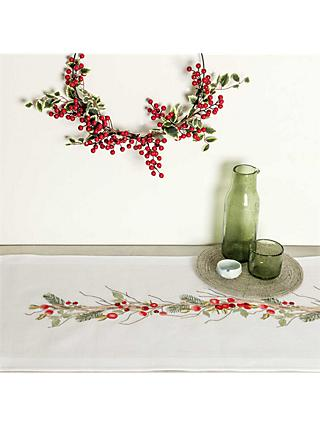 Rico Design Berry Table Runner Embroidery Kit
