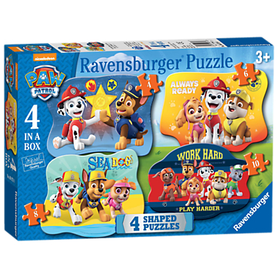 Image of Paw Patrol 4 in a Box Jigsaw Puzzle, 52 Pieces