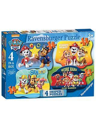 Paw Patrol 4 in a Box Jigsaw Puzzle, 52 Pieces
