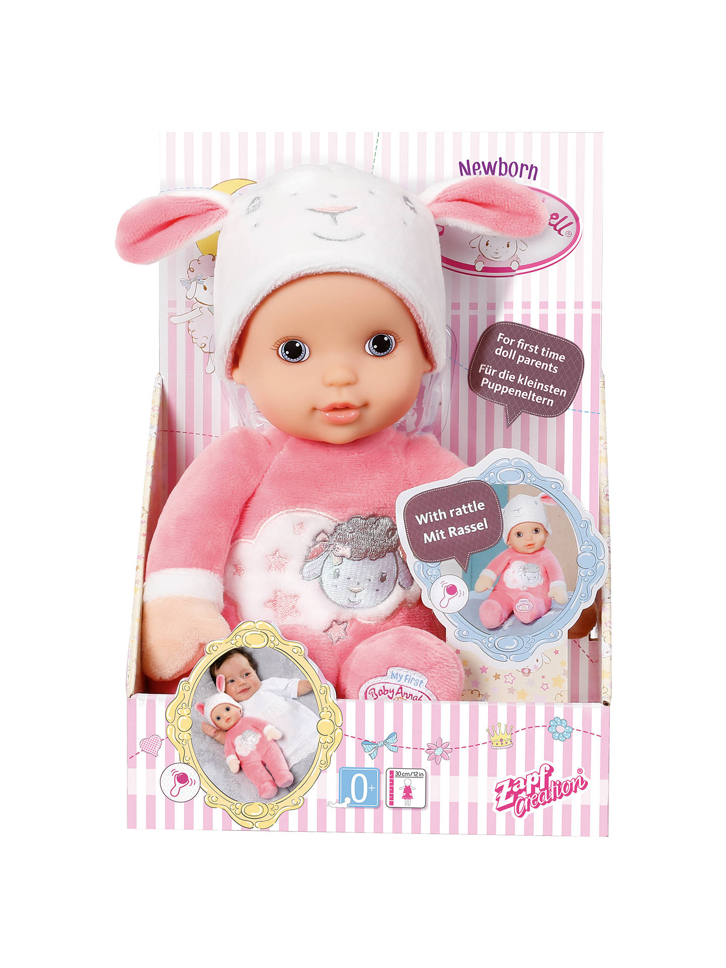 Zapf My First Baby Annabell Newborn Doll At John Lewis
