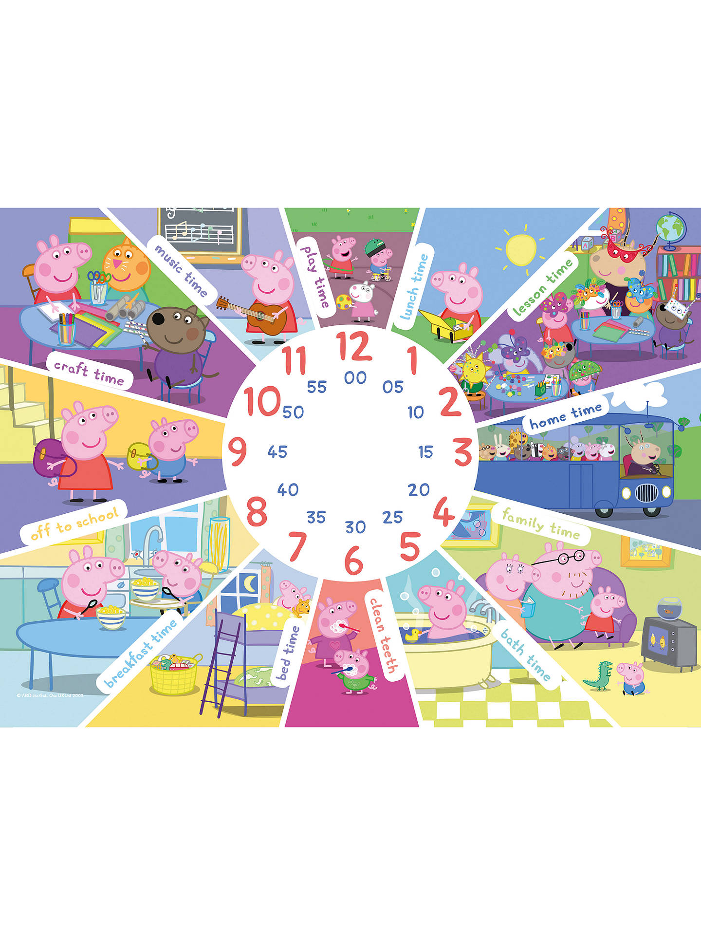 dc1feddf9eee Peppa Pig Tell The Time Jigsaw Puzzle, 60 Pieces