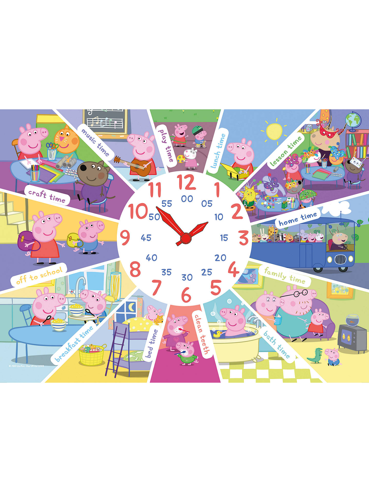 Peppa Pig Clock Puzzle (60 pieces