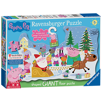 Image of Ravensburger Peppa Pig Christmas Floor Jigsaw Puzzle, 32 Pieces