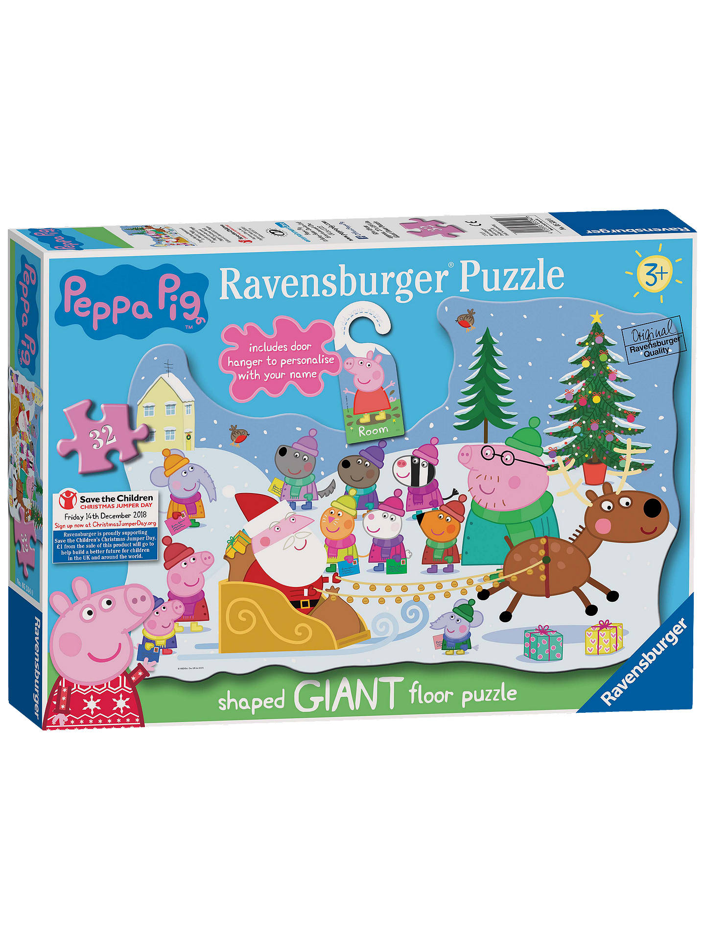 buyravensburger peppa pig christmas floor jigsaw puzzle 32 pieces online at johnlewiscom