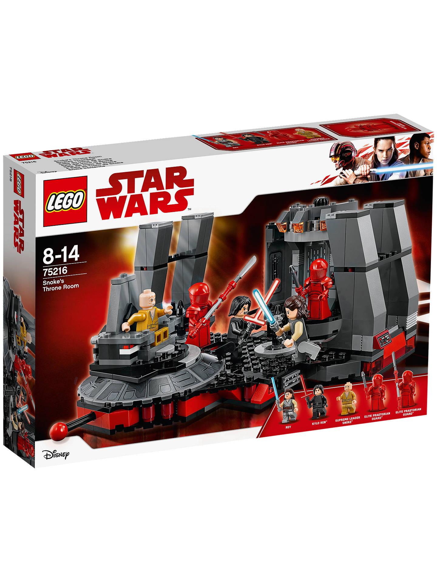 Buy lego star wars 75216 snokes throne room online at johnlewis