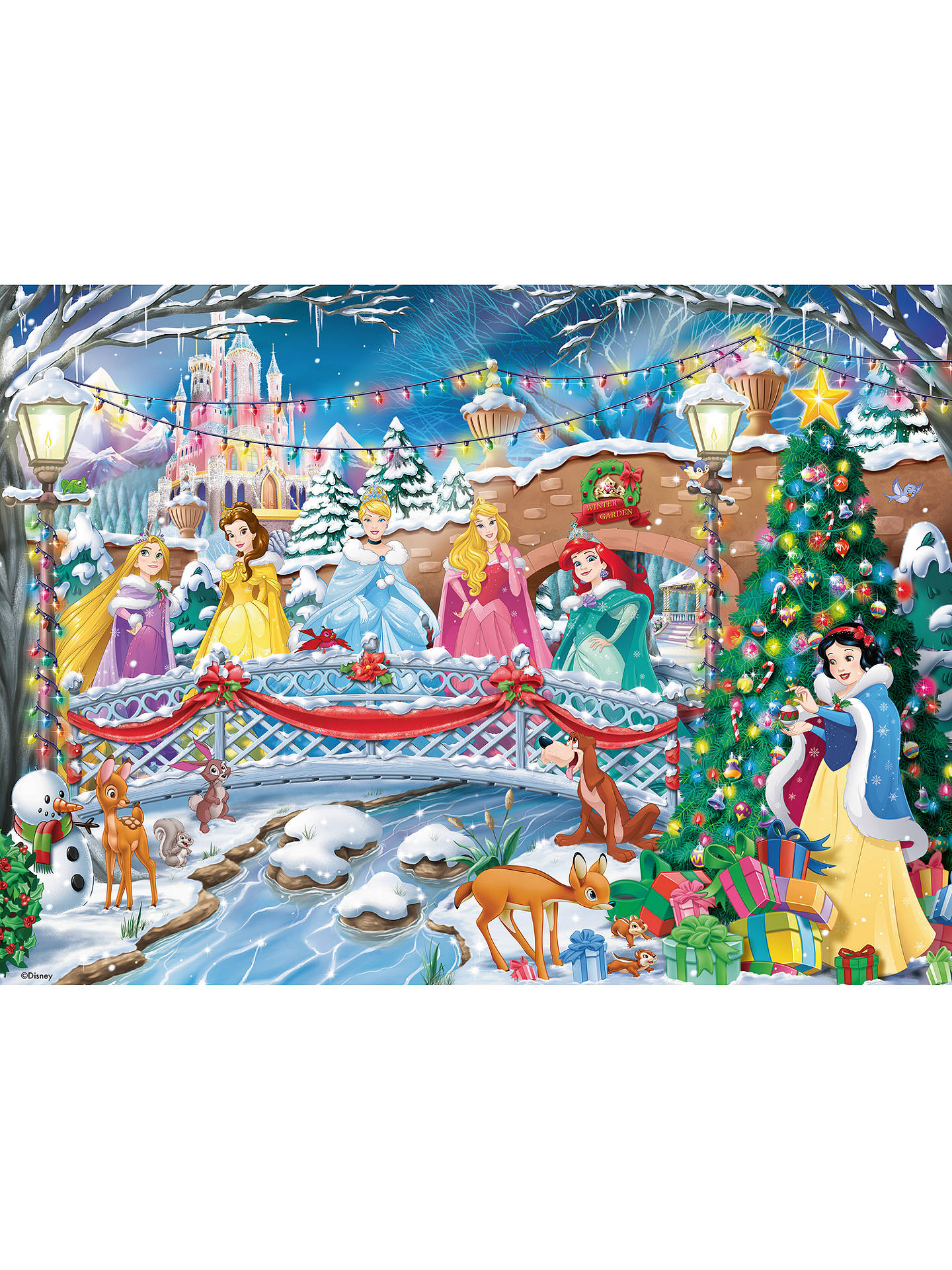 3658464498a ... Buy Ravensburger Disney Princess Glitter Christmas Jigsaw Puzzle