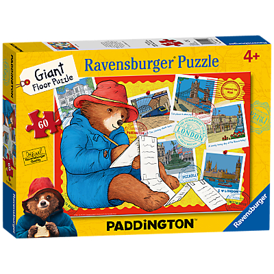 Image of Ravensburger Paddington Bear Giant Floor Jigsaw Puzzle, 60 Pieces