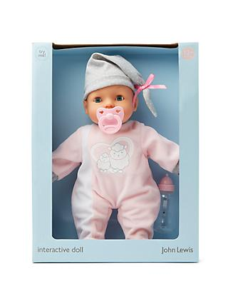John Lewis & Partners Interactive Baby Doll