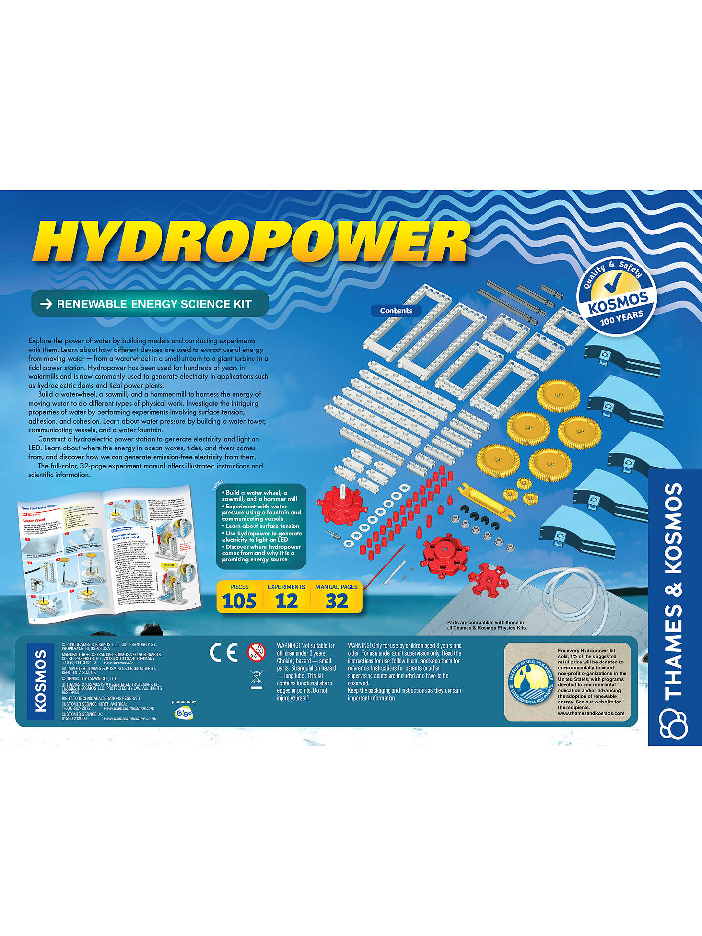 Buy Thames & Kosmos Hydro Power Experiment Kit Online at johnlewis.com