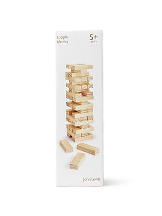 John Lewis & Partners Topple Blocks Wooden Game