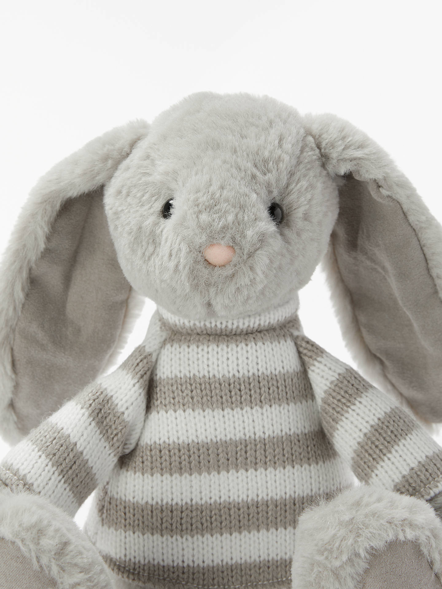 Buy John Lewis & Partners Bunny In a Stripe Jumper Soft Toy Online at johnlewis.com