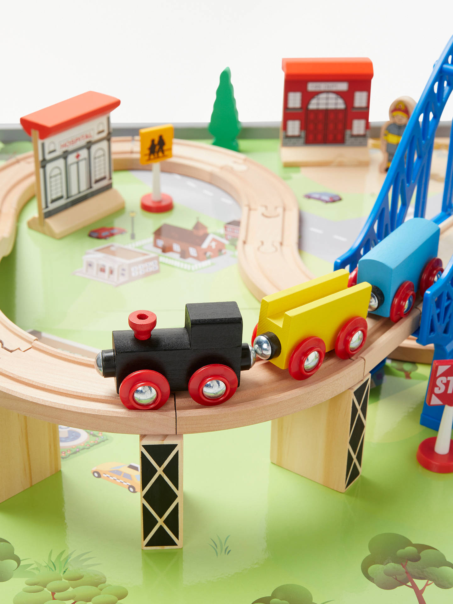 Buy John Lewis & Partners Wooden Train Table 50 Pieces Online at johnlewis.com