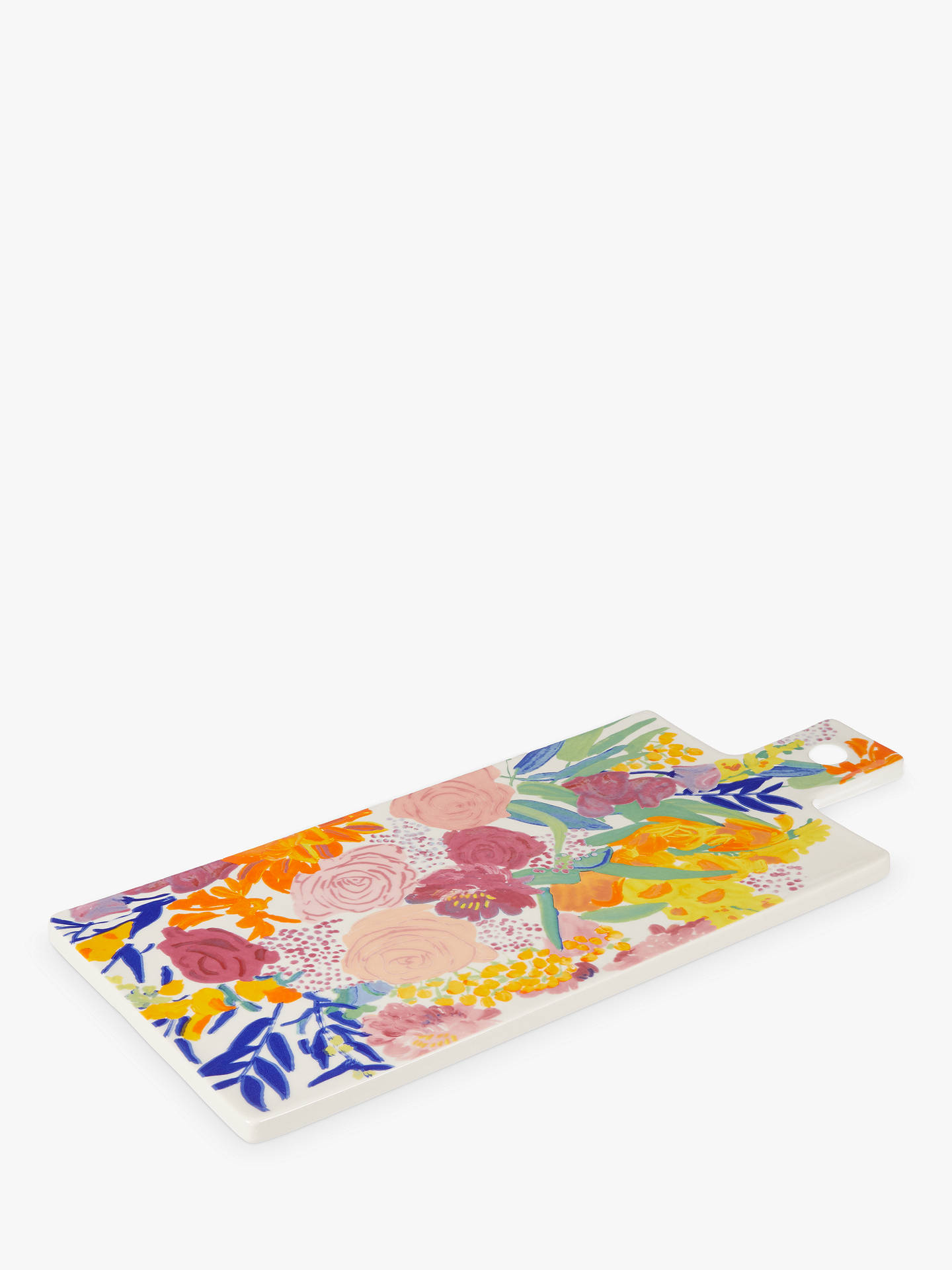 Buy Anthropologie Bridgette Thornton Floral Print Cheese Board, L45cm Online at johnlewis.com