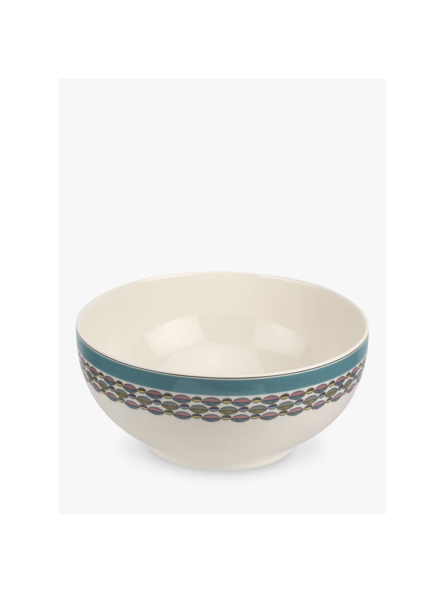 Buy Portmeirion Westerly Leaf Print Deep Serving Bowl, Dia.27cm, Turquoise/Multi Online at johnlewis.com