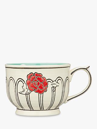 Molly Hatch Flower Patch Mug, Turquoise, 397ml