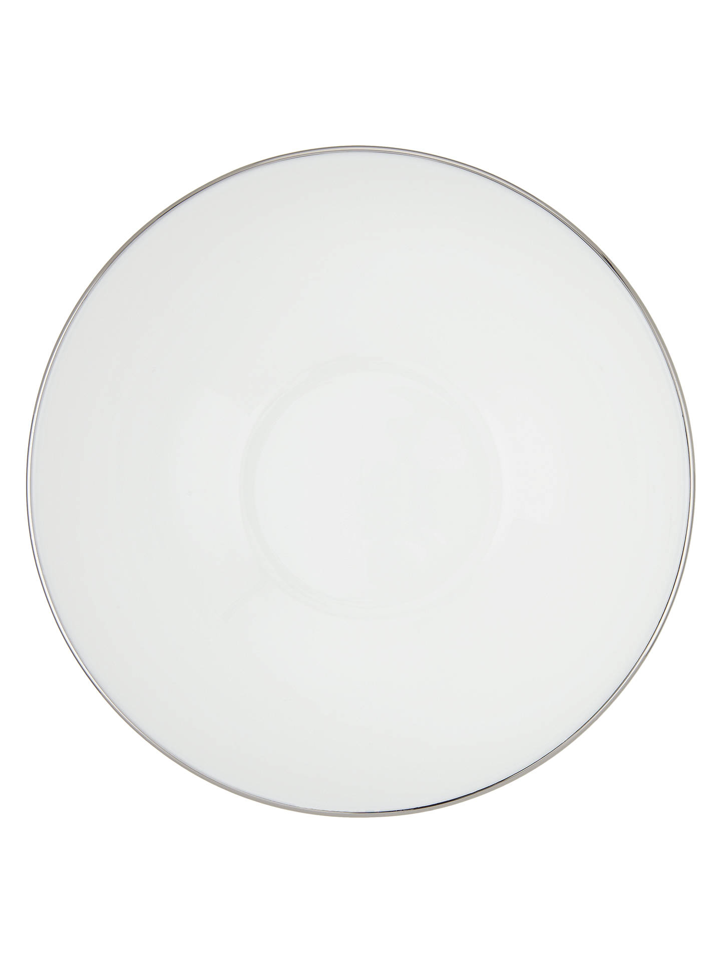 BuyJohn Lewis & Partners Contour Platinum Bone China Cereal Bowl, 15cm, White/Silver Online at johnlewis.com