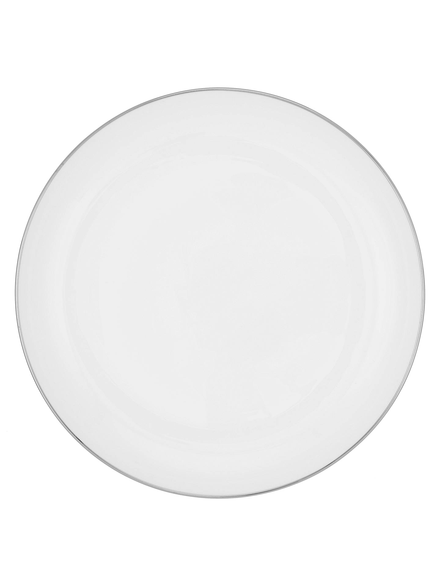 BuyJohn Lewis & Partners Contour Platinum Bone China Side Plate, 18cm, White/Silver Online at johnlewis.com