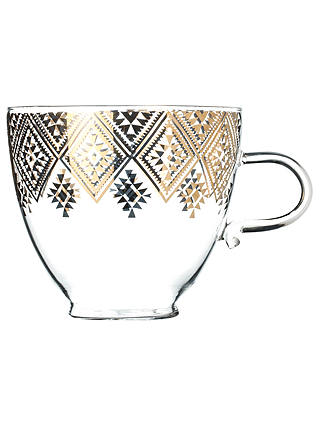 Buy T2 Nomadic Dreams Diamond Glass Mug, Clear, 450ml Online at johnlewis.com