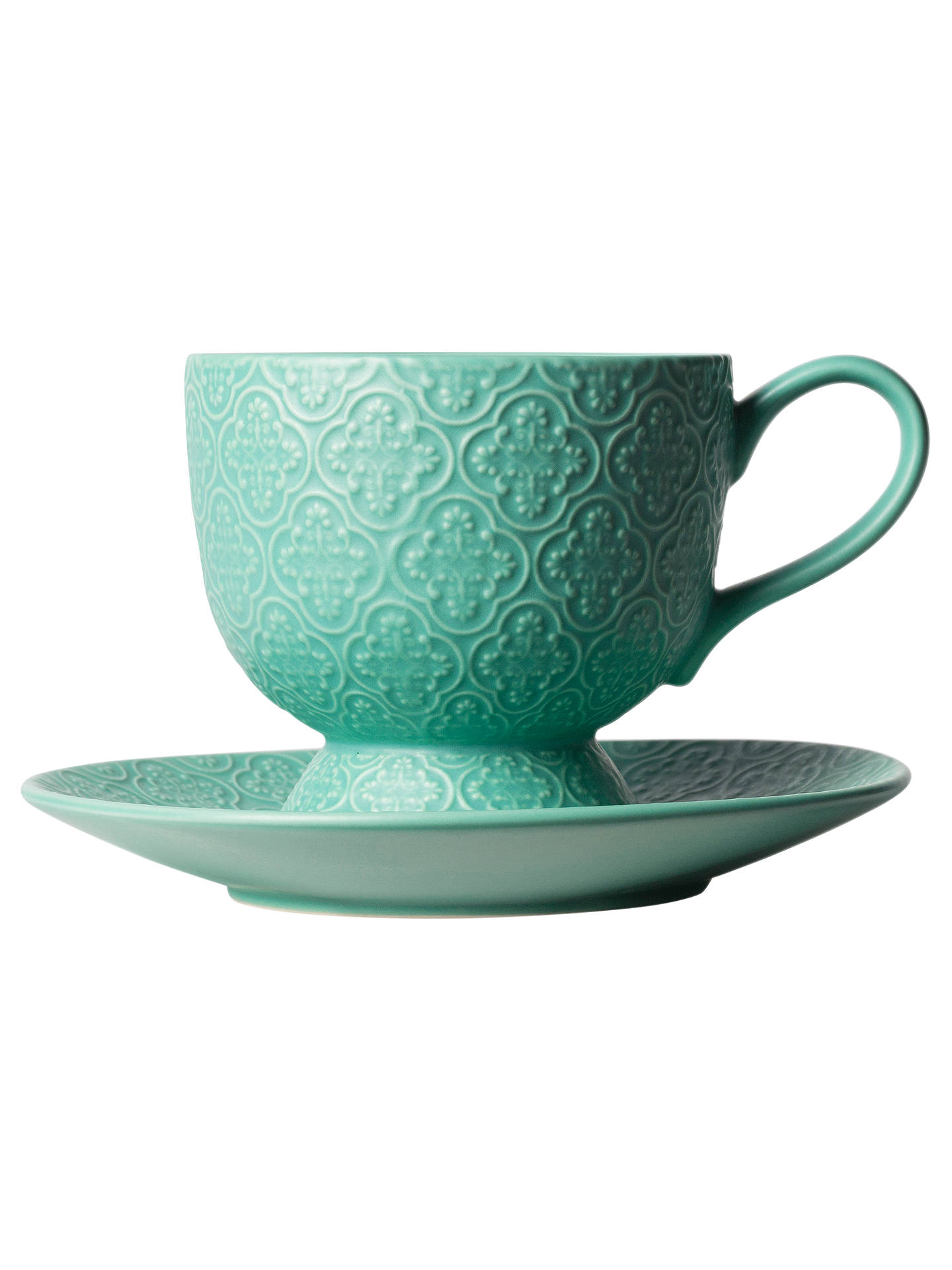 BuyT2 Lotus Pocus Tea Cup and Saucer, Aqua, 300ml Online at johnlewis.com