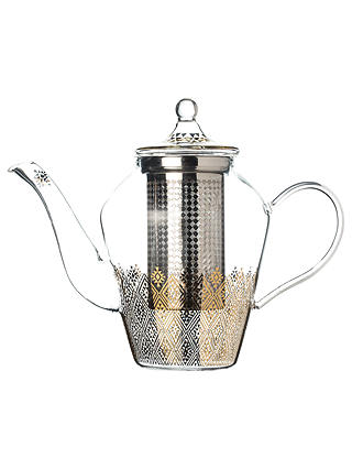 Buy T2 Nomadic Dreams Diamond Glass Infuser 5 Cup Teapot, Clear, 1.25L Online at johnlewis.com