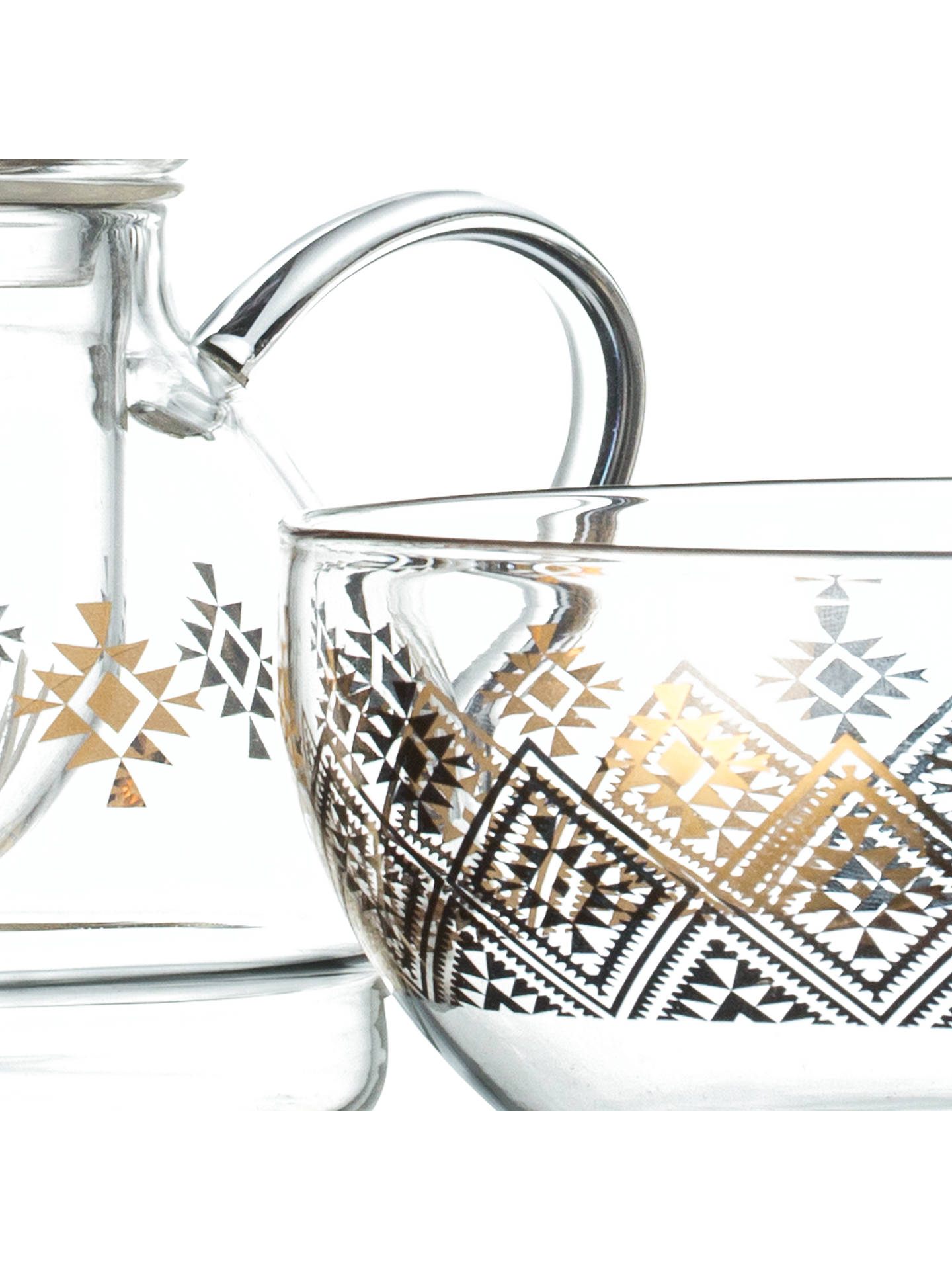 Buy T2 Nomadic Dreams Diamond Glass Teapot For One, 500ml, Clear Online at johnlewis.com