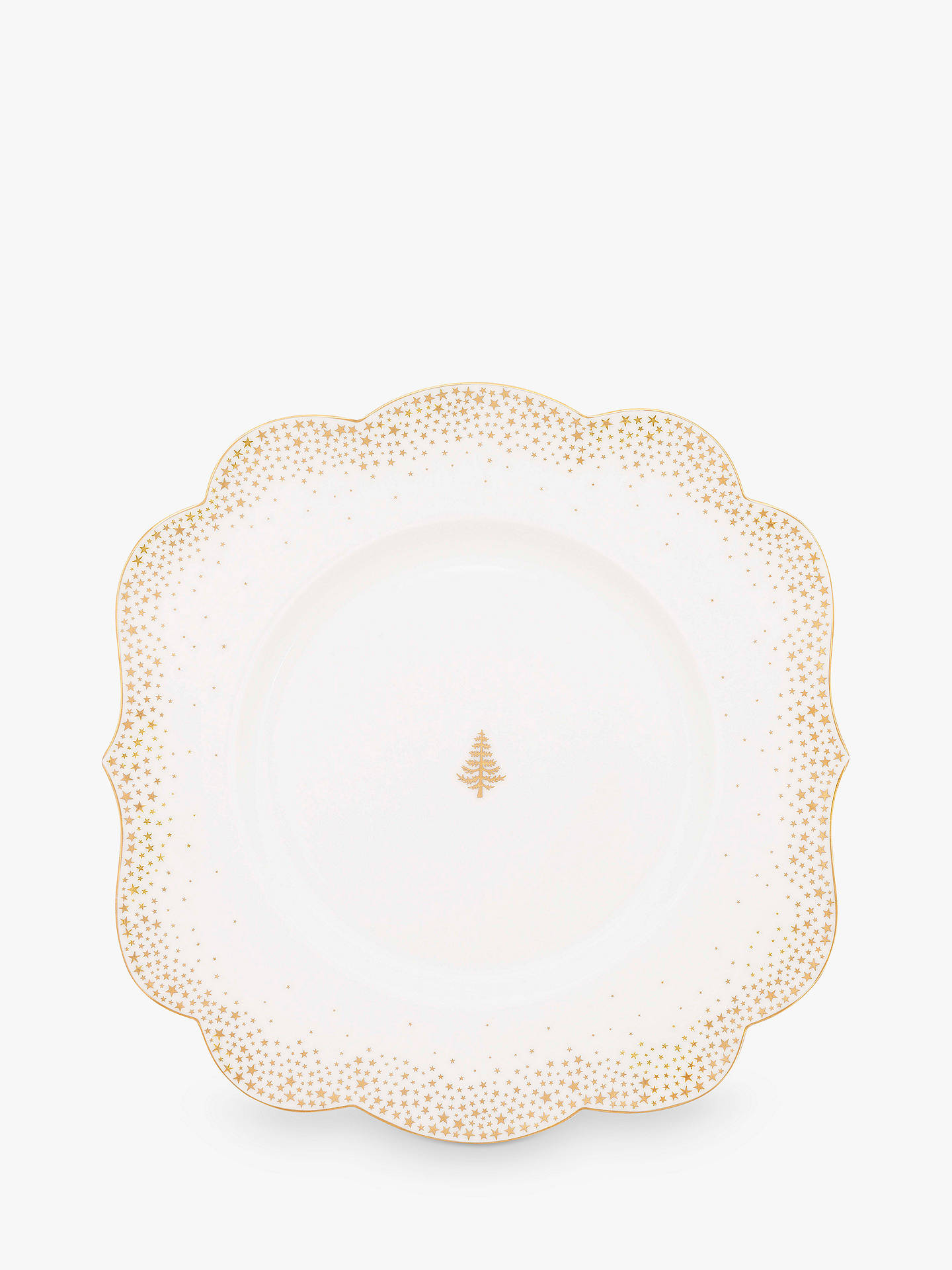 BuyPiP Studio Royal Christmas Plate, White/Gold, 23.5cm Online at johnlewis.com