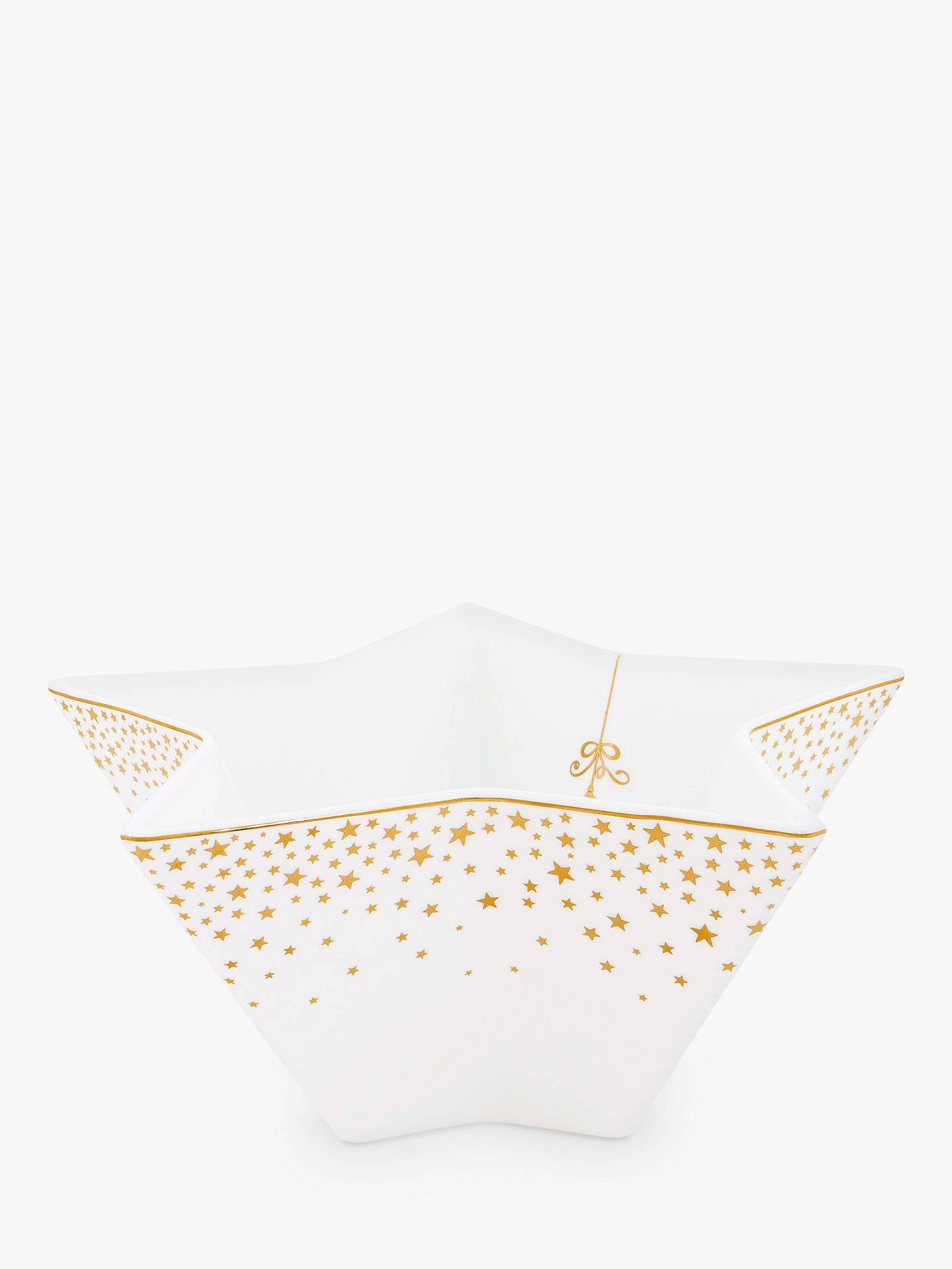 BuyPiP Studio Royal Christmas Star Bowl, White/Gold, 21cm Online at johnlewis.com