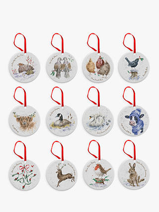 Buy Royal Worcester Wrendale 12 Days of Christmas Tree Decorations, Set of 12 Online at johnlewis.com