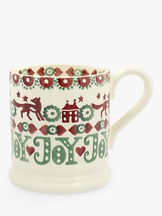 Emma Bridgewater Christmas Joy Half Pint Mug, Multi, 284ml