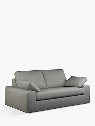 John Lewis & Partners Prism Large 3 Seater Sofa, Light Leg, Windsor Charcoal