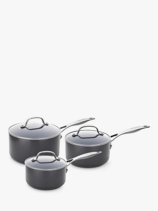 GreenPan Venice Pro Extra Ceramic Non-Stick Lidded Saucepan Set, 3 Pieces