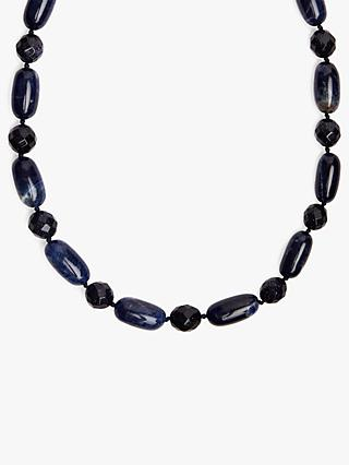 Lola Rose Yasmeen Short Necklace, Blue Sandstone/Navy Sodalite