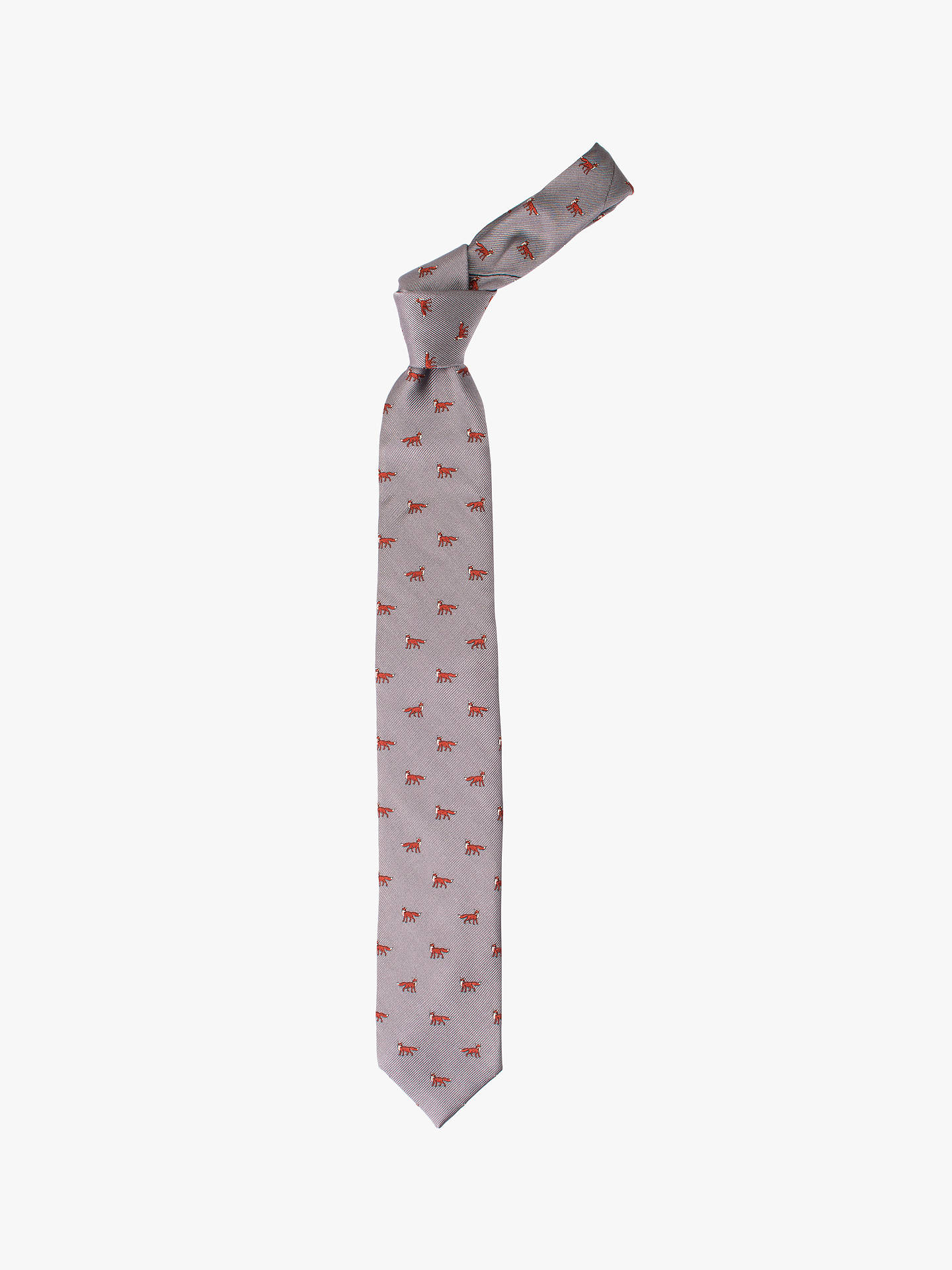 BuyJohn Lewis & Partners Fox Twill Silk Tie, Grey Online at johnlewis.com
