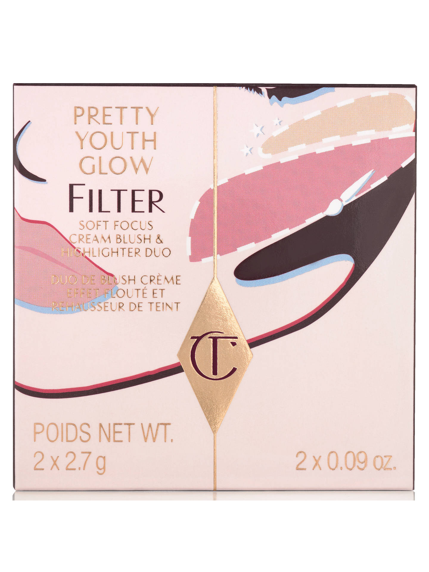 BuyCharlotte Tilbury Pretty Youth Glow Filter, Seduce Blush Online at johnlewis.com